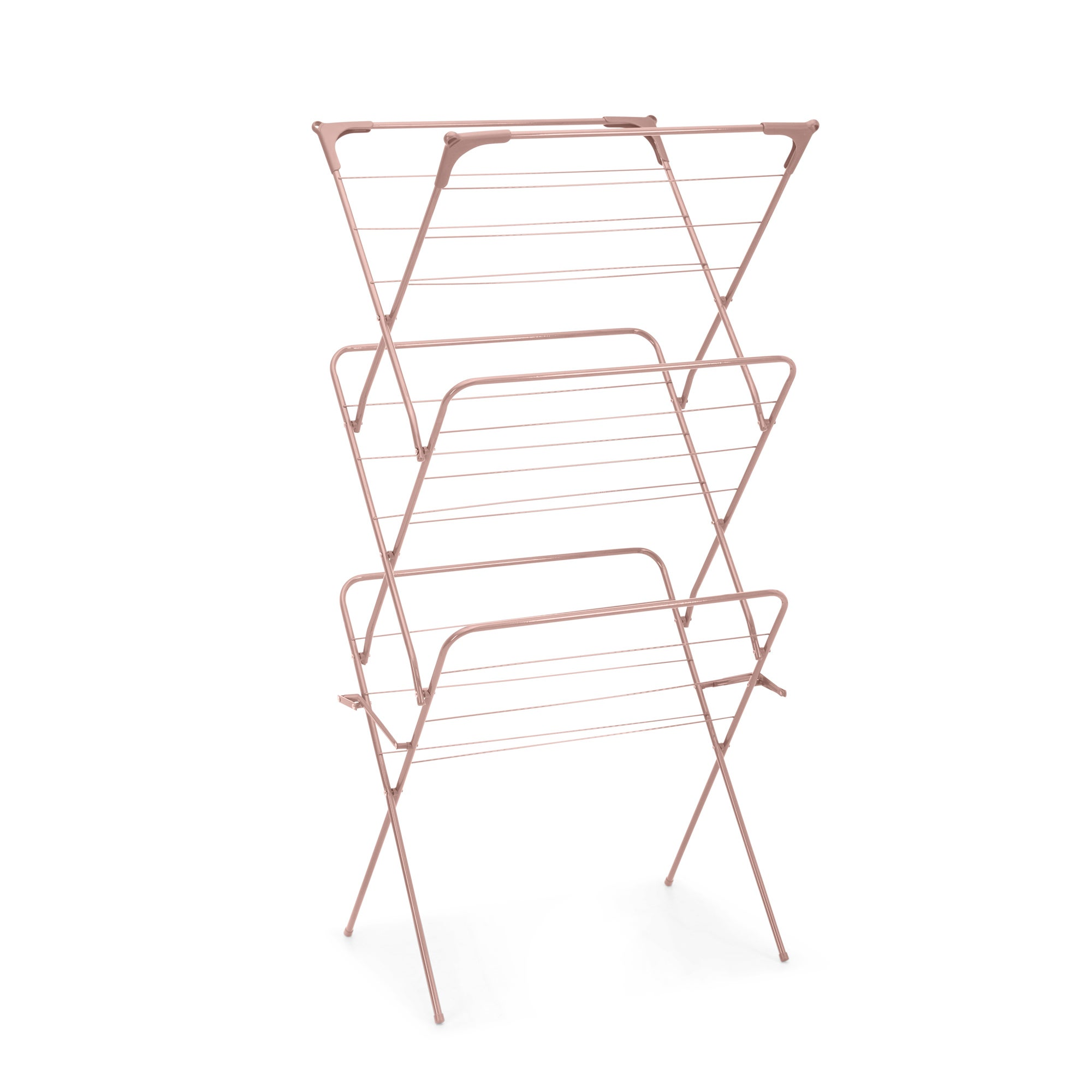 3 Tier Concertina Blush Pink Indoor Clothes Airer Pink